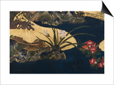 Detail of Spring in the Palace, Six-Fold Screen from 'The Tale of Genji', C.1650 Prints by  Japanese