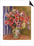 Vase of Tulips and Anemones, circa 1895 Prints by Pierre-Auguste Renoir
