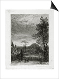 The Skylark (Etching) Art by Samuel Palmer