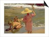 Children on the Seashore, 1903 Prints by Joaquin Sorolla y Bastida