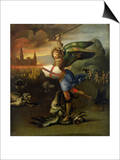 St. Michael, circa 1503-05 Posters by  Raphael