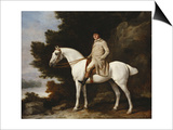 A Gentleman on a Grey Horse in a Rocky Wooded Landscape, 1781 Posters by George Stubbs