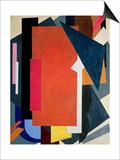 Painterly Architectonics, 1916-17 Posters av Liubov Sergeevna Popova