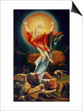 The Resurrection of Christ, from the Isenheim Altarpiece circa 1512-16 Plakater af Matthias Grünewald