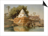 Tomb of Sheikh Ababda in Minya, Middle Egypt, 1871 Prints by Carl Friedrich Heinrich Werner