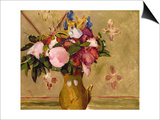 Flowers, after Cezanne Print by Odilon Redon