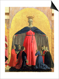 The Madonna of Mercy, Central Panel from the Misericordia Altarpiece, 1445 (Detail) Print by  Piero della Francesca