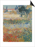 Garden in Bloom, Arles, c.1888 Poster by Vincent van Gogh