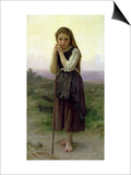 A Little Shepherdess, 1891 Posters by William Adolphe Bouguereau