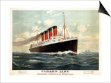 Advertisement for the Cunard Line, C.1908 (Colour Litho) Prints by Fred Pansing