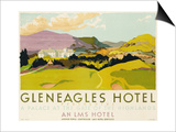 Gleneagles Hotel, Poster Advertising the Lms, 1924 Poster by  English School