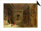The Hypostyle Hall of the Great Temple at Abu Simbel, Egypt, 1849 (Oil on Panel) Prints by David Roberts