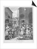 Times of the Day, Noon, 1738 Art by William Hogarth