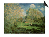 The Garden of Hoschede Family, 1881 Posters by Alfred Sisley