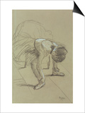 Seated Dancer Adjusting Her Shoes, circa 1890 Prints by Edgar Degas