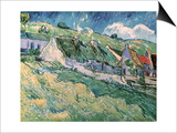 Cottages at Auvers-Sur-Oise, c.1890 Posters by Vincent van Gogh