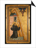 St. Francis Receives the Stigmata, Mid-13th Century (Tempera on Wood) Prints by Bonaventura Berlinghieri