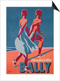 Advertisement for Bally Sandals, 1935 (Colour Litho) Prints by  Gerald