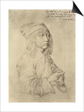 Self Portrait at the Age of Thirteen, 1484 Posters by Albrecht Dürer
