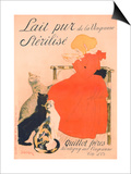 Poster advertising Milk, published by Charles Verneau, Paris, 1894 Print by Théophile Alexandre Steinlen