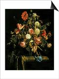 Flower Still Life, 1706 Art by Jan van Huysum