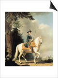 Equestrian Portrait of Catherine II (1729-96) the Great of Russia Print by Vigilius Erichsen