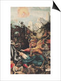 Temptation of St. Anthony, from the Isenheim Altarpiece, circa 1512-16 Plakat af Matthias Grünewald