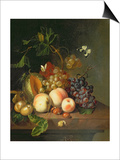 A Still Life on a Marble Ledge Poster by Rachel Ruysch