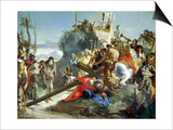 Christ on the Road to Calvary, 1749 Posters by Giovanni Battista Tiepolo