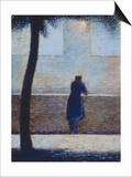 Man Leaning on a Parapet Posters by Georges Seurat