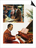 Portrait of Sergei Rachmaninov Prints by Andrew Howat