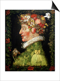 Spring, from a Series Depicting the Four Seasons, 1573 Plakater af Giuseppe Arcimboldo
