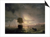 Harbour at Odessa on the Black Sea, 1852 Posters by Ivan Konstantinovich Aivazovsky