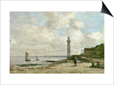 Lighthouse at Honfleur, 1864-66 Posters by Eugène Boudin