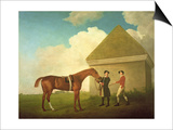 Eclipse at Newmarket, with a Groom and a Jockey, 1770 Print by George Stubbs