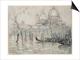 Venice Or, the Gondolas, 1908 (Black Chalk and W/C on Paper) Posters by Paul Signac