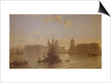 Shipping on the Thames at Greenwich Prints by David Roberts