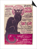 Poster Advertising an Exhibition of the Collection Du Chat Noir Cabaret at the Hotel Drouot, Paris Prints by Théophile Alexandre Steinlen