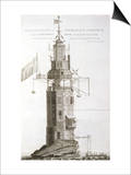 Edystone Lighthouse Art by Henry Winstanley