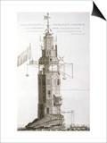 Edystone Lighthouse Art by Henry Winstanley