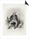 "Bill Sikes and His Dog, from ""Charles Dickens: a Gossip About His Life"" Art by Frederick Barnard"