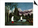 The Banks of the Oise, 1905 Print by Henri Rousseau