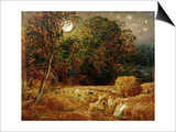 Harvest Moon Poster by Samuel Palmer