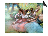 Four Ballerinas on the Stage Prints by Edgar Degas