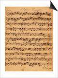 Johann Sebastian Bach - The Brandenburger Concertos, No.5 D-Dur, 1721 - Poster