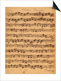 The Brandenburger Concertos, No.5 D-Dur, 1721 Print by Johann Sebastian Bach