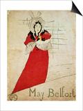 May Belfort, France, 1895 Láminas por Henri de Toulouse-Lautrec