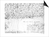 Signature of William Shakespeare, 1616 Posters