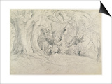 Ancient Trees, Lullingstone Park, 1828 (Graphite on Paper) Prints by Samuel Palmer