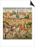 The Garden of Earthly Delights: Allegory of Luxury, Central Panel of Triptych, circa 1500 Posters by Hieronymus Bosch